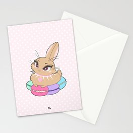 Bunnies - Macarons Stationery Cards