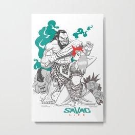 Caveman Savag Metal Print