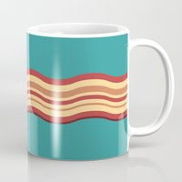 bacon Mugs featuring Bacon by Jiro Tamase