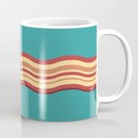 bacon Mugs featuring Bacon by Jiro Tamase
