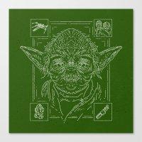 yoda Canvas Prints featuring Yoda by Jon Deviny