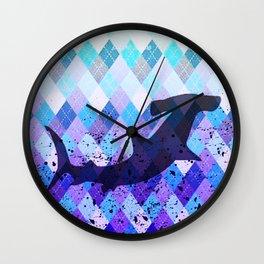 Shark Silhouette Wall Clock
