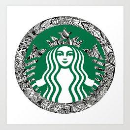 Starbucks T-Shirt Art Print