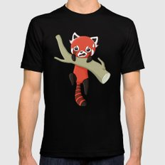 Red Panda Mens Fitted Tee Black SMALL