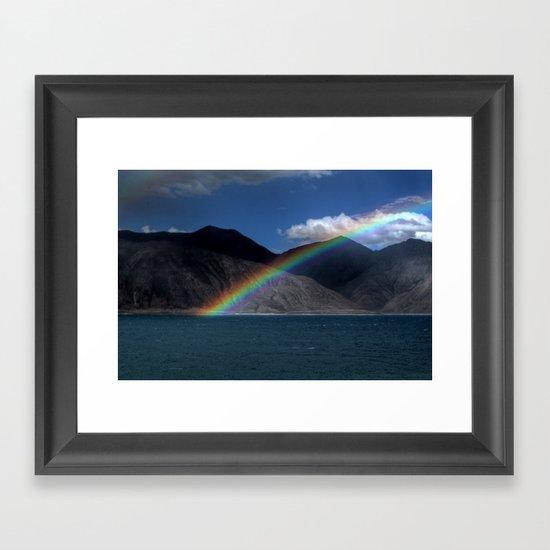 The Rainbow at Pangong! Framed Art Print