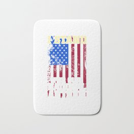 I Stand For Our National Anthem American Patriotic Bath Mat