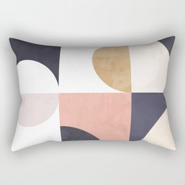 Geometric Moontime 1 Rectangular Pillow