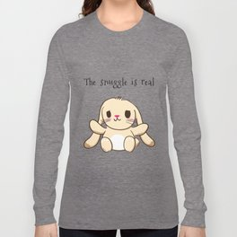 The Snuggle is Real Bunny Long Sleeve T-shirt