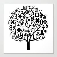 math Canvas Prints featuring math by store2u