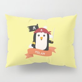Pirate Pinguin from MILAN T-Shirt for all Ages Pillow Sham