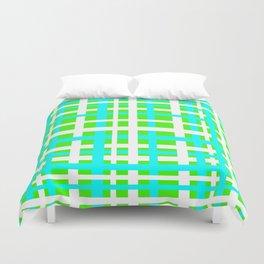 Green & Aqua Interlocking Stripes Duvet Cover