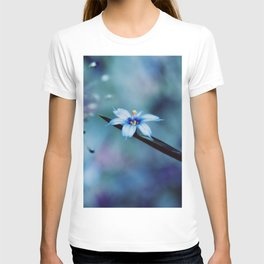 Blue on blue Flower Photography, Symphony in Blue T-shirt