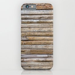 Wood Effects Raw Wood Log Cabin Lodge Rustic iPhone Case