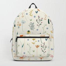 Vintage Inspired Wildflower Print Backpack
