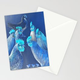 New Chick On The Block In Blue Stationery Cards