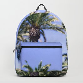 """""""Catalina Palms #4"""" with poem: Brisbane Backpack"""