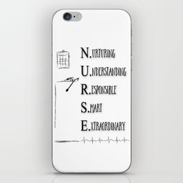 NURSE DEFINED iPhone Skin