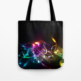 Music Notes in Color Tote Bag