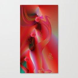 Flower Cascade Canvas Print