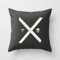 Mulder and Scully Throw Pillow