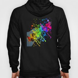 Guitar - Splotches Of Paint Hoody