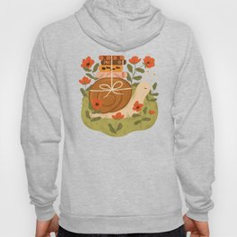 Snail Carrying Books Hoody