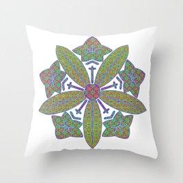 zen soto crest Throw Pillow