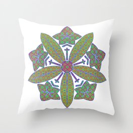 zen soto crest Throw Pillow
