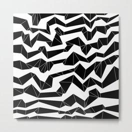 Polynoise Origami Metal Print