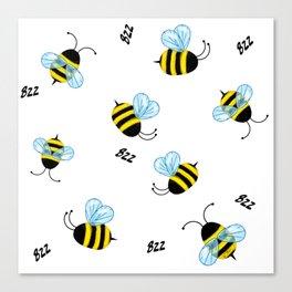 Buzzing Bees Canvas Print