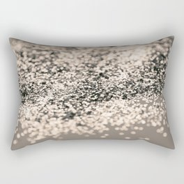 Sparkling Sepia Glitter #1 #shiny #decor #art #society6 Rectangular Pillow