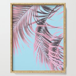 Delicate Pink Palms Serving Tray