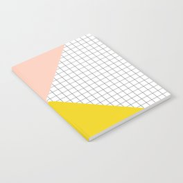Mustard and Blush Tri Grid Notebook