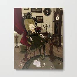 Clever Little Alice Metal Print