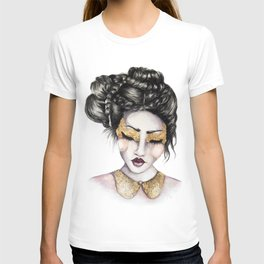 Golden Eyes // Fashion Illustration T-shirt