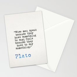 Plato quote Stationery Cards