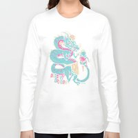dessert Long Sleeve T-shirts featuring Dessert Dragon by Heartjack