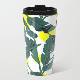 Tropical '17 - Fresh [Banana Leaves] Metal Travel Mug