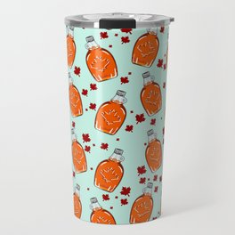 Super Canadian Maple Syrup Pattern Travel Mug