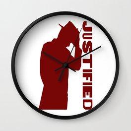 Justified Wall Clock