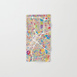 Houston Texas City Street Map Hand & Bath Towel