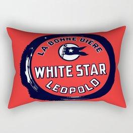 Belgian Beer White Star Rectangular Pillow