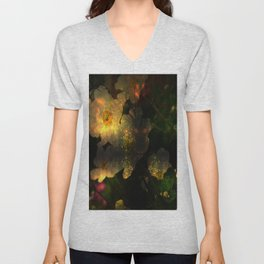 Frightening Glow in the Flowers Unisex V-Neck