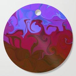 Purple love Abstract Cutting Board