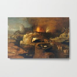 Descent Into Hell, Left Side, By Follower Of Hieronymus Bosch, Circa 1550 Metal Print