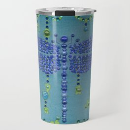 Dragonfly in Turquoise Travel Mug