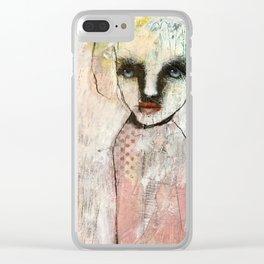 Monochrome portrait Clear iPhone Case