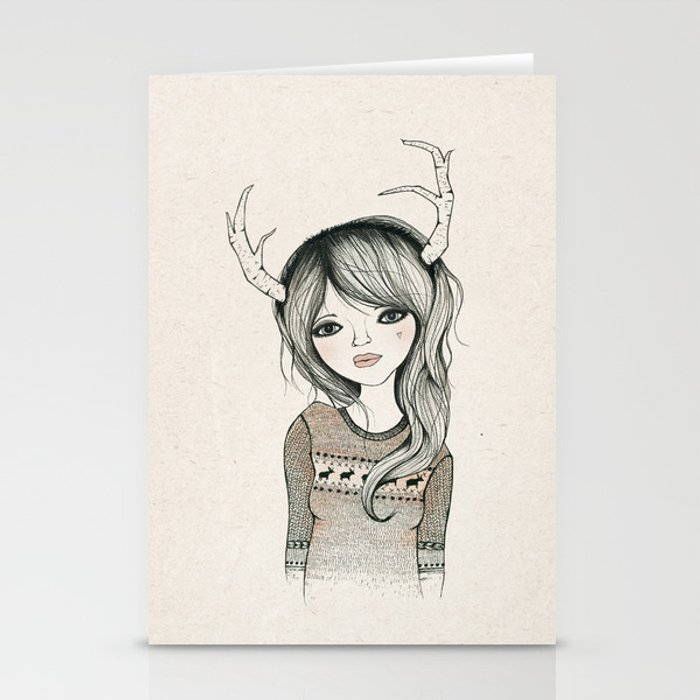 Antler Girl Stationery Cards
