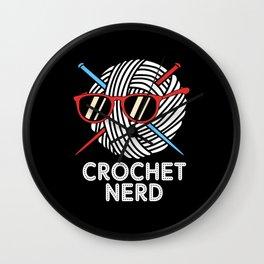 Yarn Crochet Nerd Wall Clock
