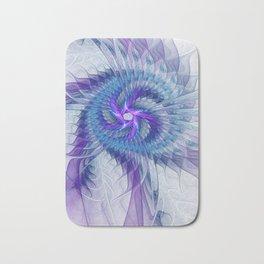 Swirl, Abstract Fractal Art Bath Mat